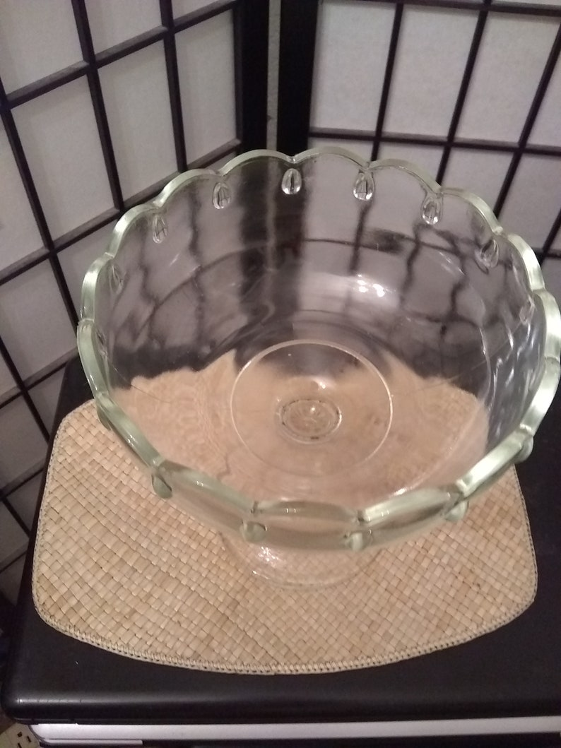 CLear Glass Pedestal Bowl
