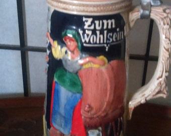 Vintage Musical German Stein