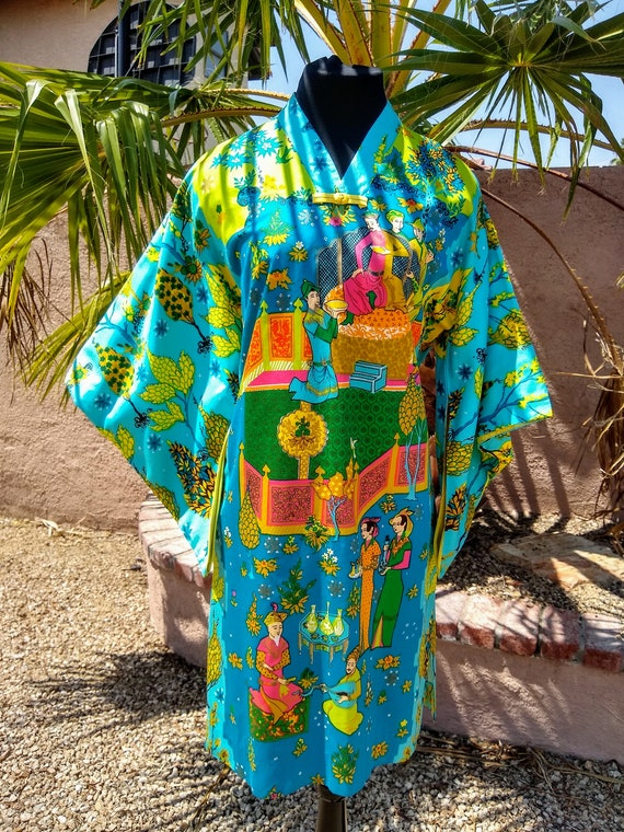 1960s Alice Polynesian Fashion Pake Muu - image 5