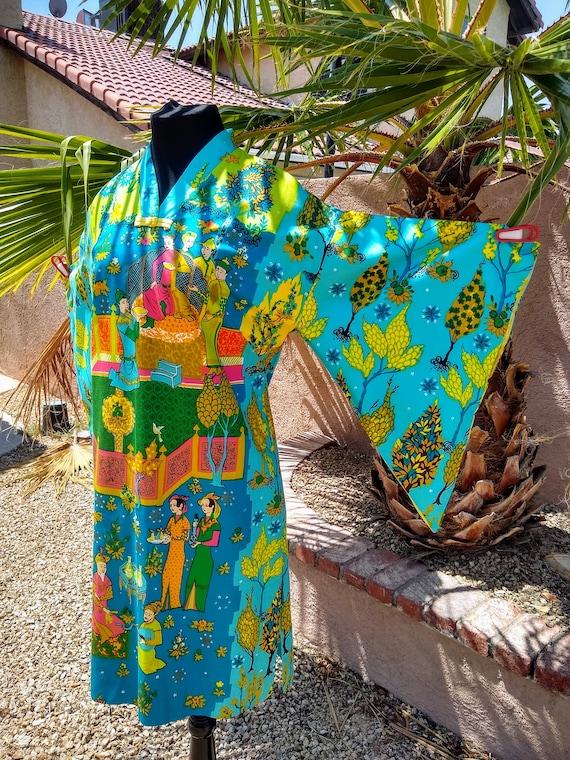1960s Alice Polynesian Fashion Pake Muu - image 9