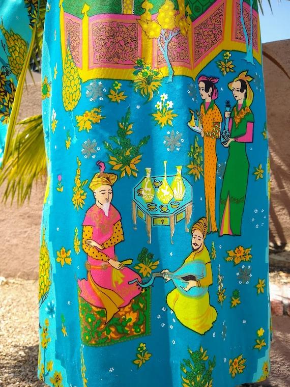 1960s Alice Polynesian Fashion Pake Muu - image 6