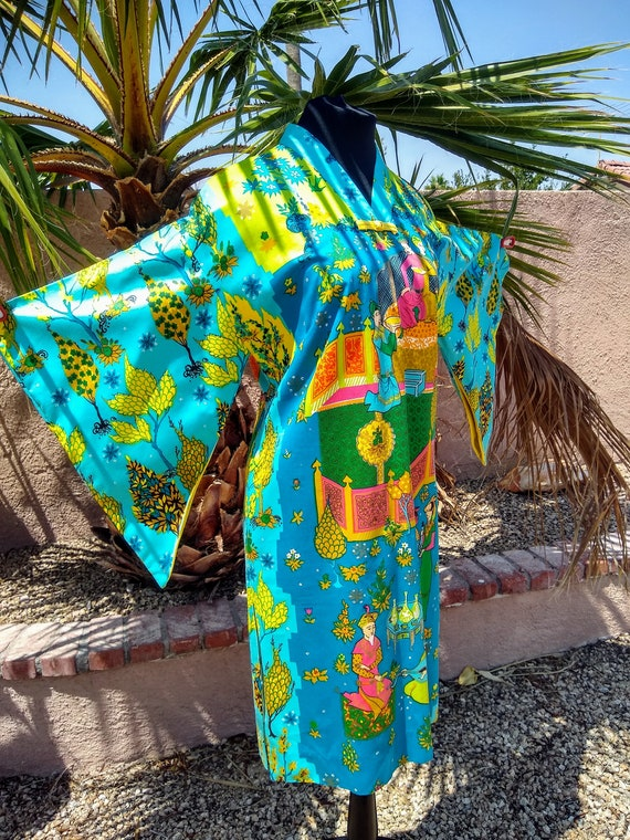 1960s Alice Polynesian Fashion Pake Muu - image 10
