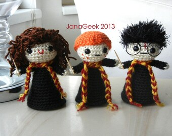 Pattern for Harry Potter Sorting Hat Doll Sized Crochet  06372fc9abc
