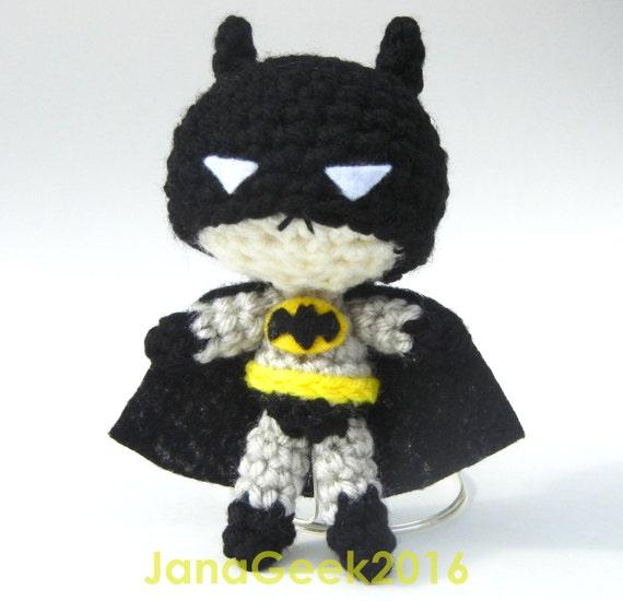Comics Superhero Batman Inspired Amigurumi Crochet Doll Etsy
