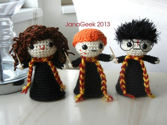 Harry Potter And Pals Doll Crochet Pattern Etsy