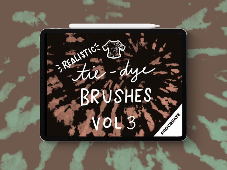 Procreate Tie-Dye Brushes Volume 3 image 0