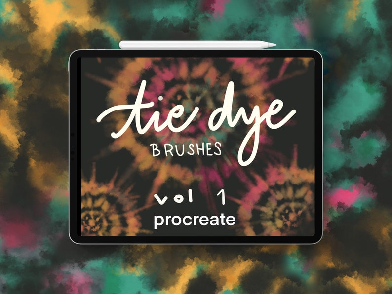 Procreate Tie-Dye Brushes Volume 1 image 0