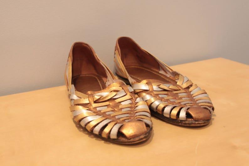 ff14a13716597 Vintage Women s Leather Huaraches Women s Size 8.5