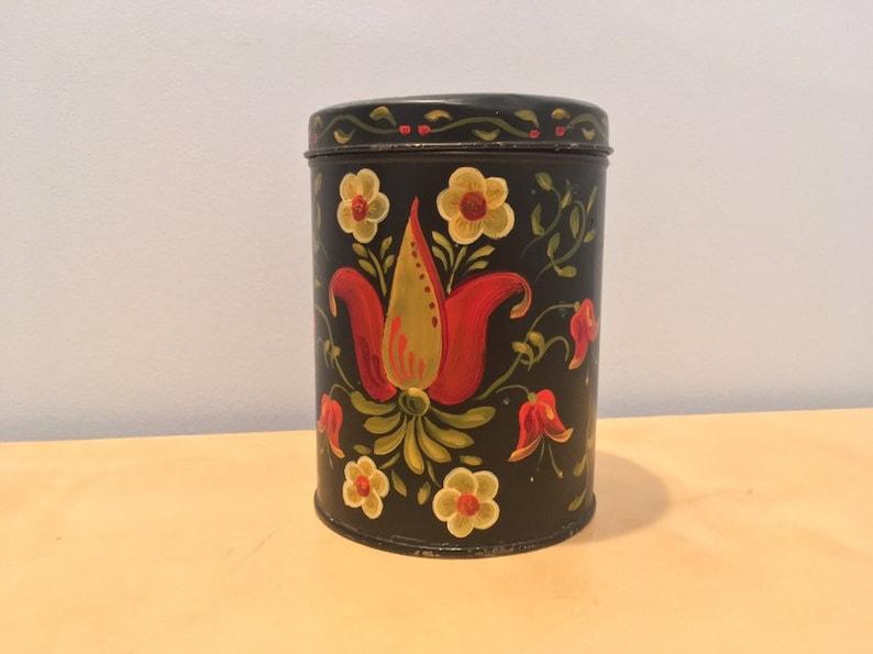 Folkart Vintage Hand Painted Tin Dutch Candies Pennsylvania