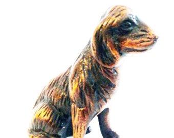 Beautiful Vintage Minature Brass Dog Statue
