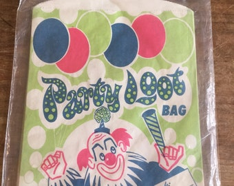 1960s vintage Party Loot Bag pack