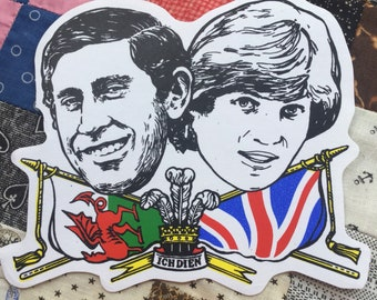 Charles and Diana Royal Wedding stickers - 1981