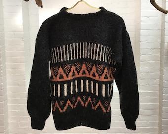 d0a4f55791c Vintage Icelandic sweater // men's or women's