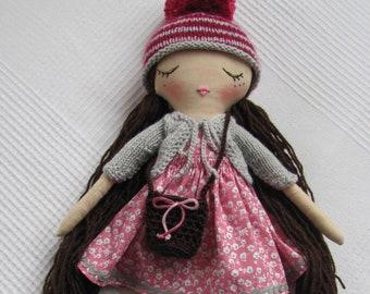 Mia - Fabric handmade doll