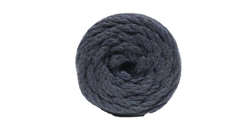 80 yards DARK NAVY Cotton Air Yarn 5mm