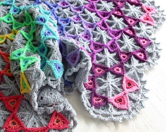 Crochet Pattern, Prism Blanket