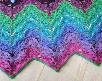 Crochet Pattern, Brighton Blanket, Afghan, Baby