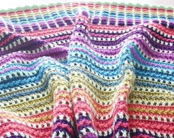 Crochet Pattern, Skittles Blanket, Afghan, Rainbow Baby
