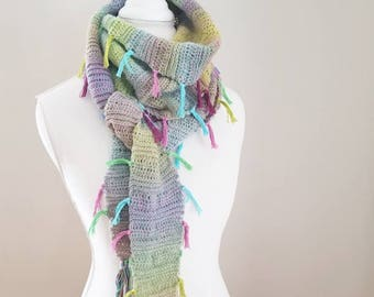 Crochet Pattern, Find Your Tribe Scarf, Shawl, Wrap
