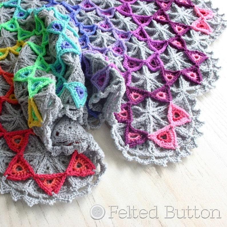 Crochet Pattern Prism Blanket image 1