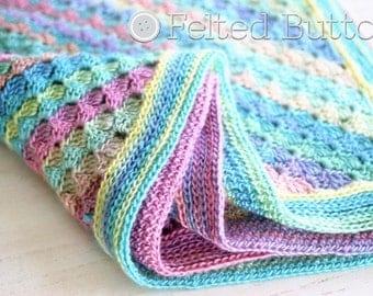 Crochet Pattern, Spring into Summer Blanket, Afghan, Baby, C2C