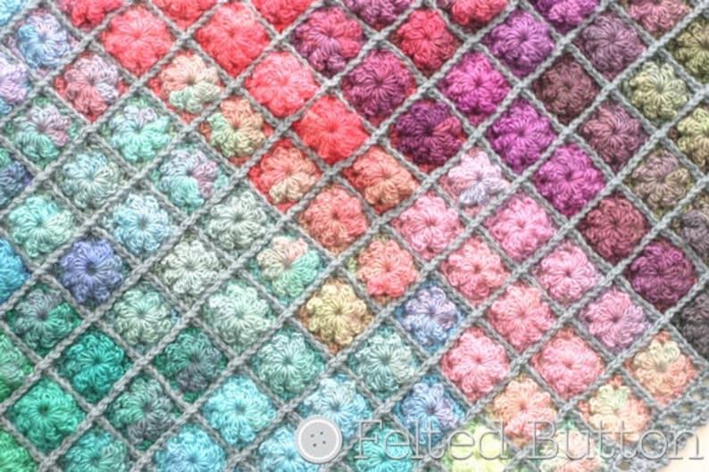 Crochet Pattern Painted Pixels Baby Blanket Afghan image 0