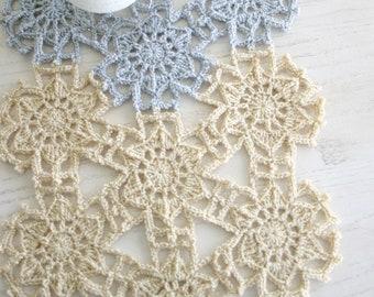 Crochet Pattern, Fallen Snow Table Runner, Ornament, Christmas Holiday Decor