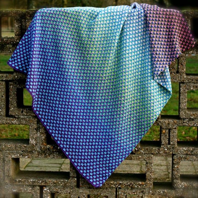 Crochet Pattern Trio Blanket Baby Afghan Throw image 1