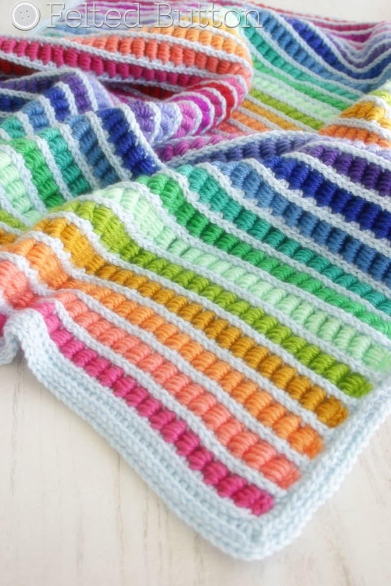 Crochet Pattern Abacus Blanket Baby Afghan Throw image 2