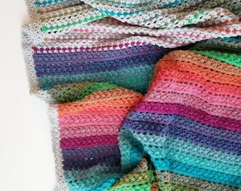 Crochet Pattern, Elan Blanket, Afghan, Throw, Baby Blanket