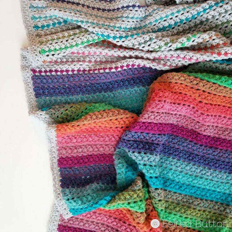 Crochet Pattern Elan Blanket Afghan Throw Baby Blanket image 0