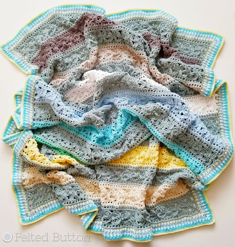 Crochet Pattern Under the Awning Blanket Afghan Throw Baby image 0