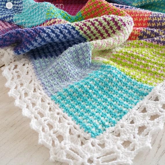 Crochet Pattern Washburn Blanket Throw Afghan Etsy