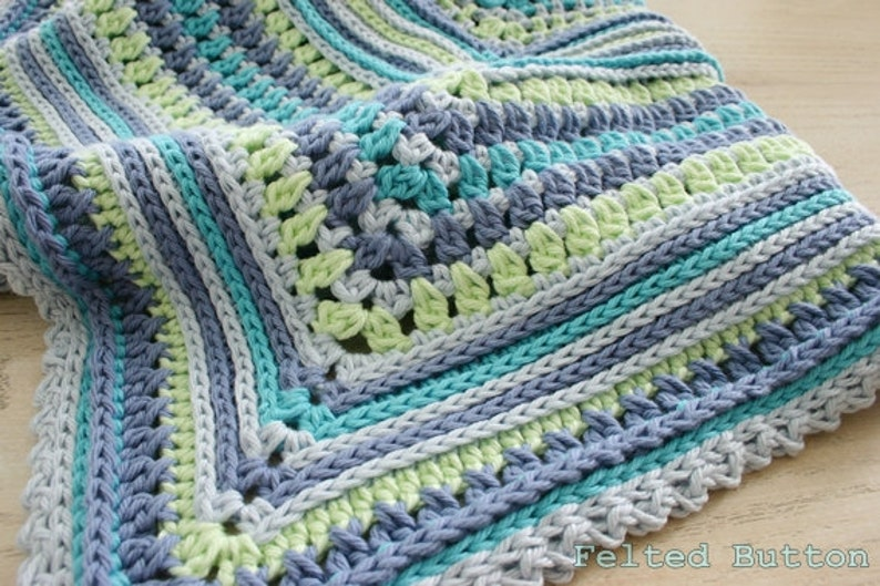Blanket Crochet Pattern Breath of Heaven Baby Girl Boy image 0