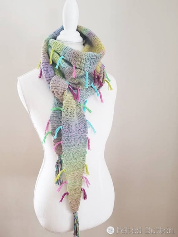 Crochet Pattern Find Your Tribe Scarf Shawl Wrap Etsy
