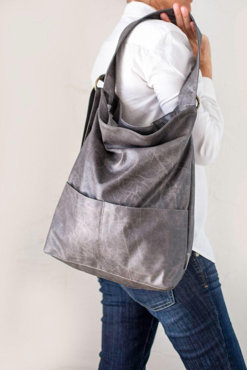 5fcda16c5a Gray Vegan Bag Vegan Hobo Bags Vegan Purse Bag Grey Hobo