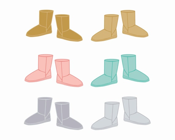 60% OFF SALE Clipart Shoe Clip art Winter Boots Clothes Clipart Clipart for Winter Scrapbooking