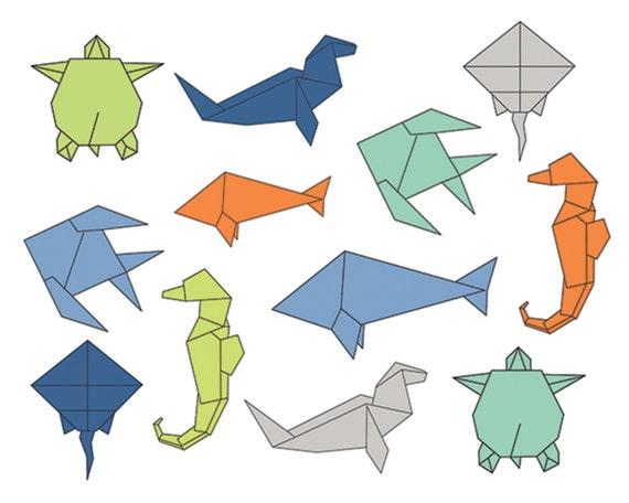60 off clip art sale origami sea clipart digital design sea rh etsystudio com origami owl clip art clipart origami
