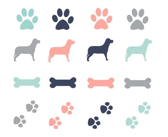 60% OFF SALE Paw Prints Dogs Clipart Dog Bone Clip Art | Etsy