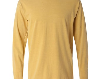 Blank Comfort Color Long Sleeve T-shirt (No Pocket)