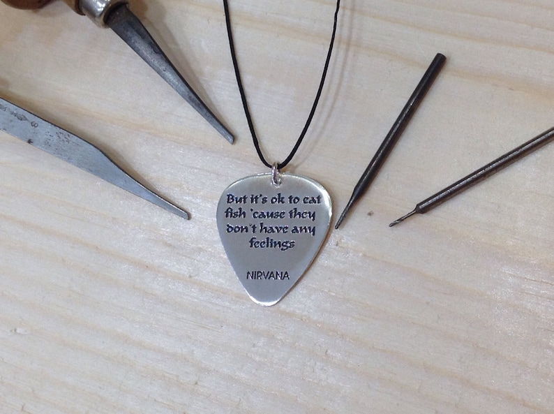 Hands Rock And Roll Signs Custom Guitar Pick Pendant Necklace Keychain