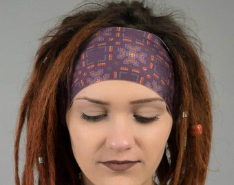 Hippie Headband for Running or Yoga - Dreadlock Headwrap - Dread head band wrap - Seamless Wicking Bohemian Workout layer - INTO the WILD