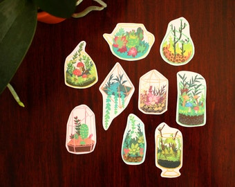 Terrarium Stickers - Stocking Stuffer