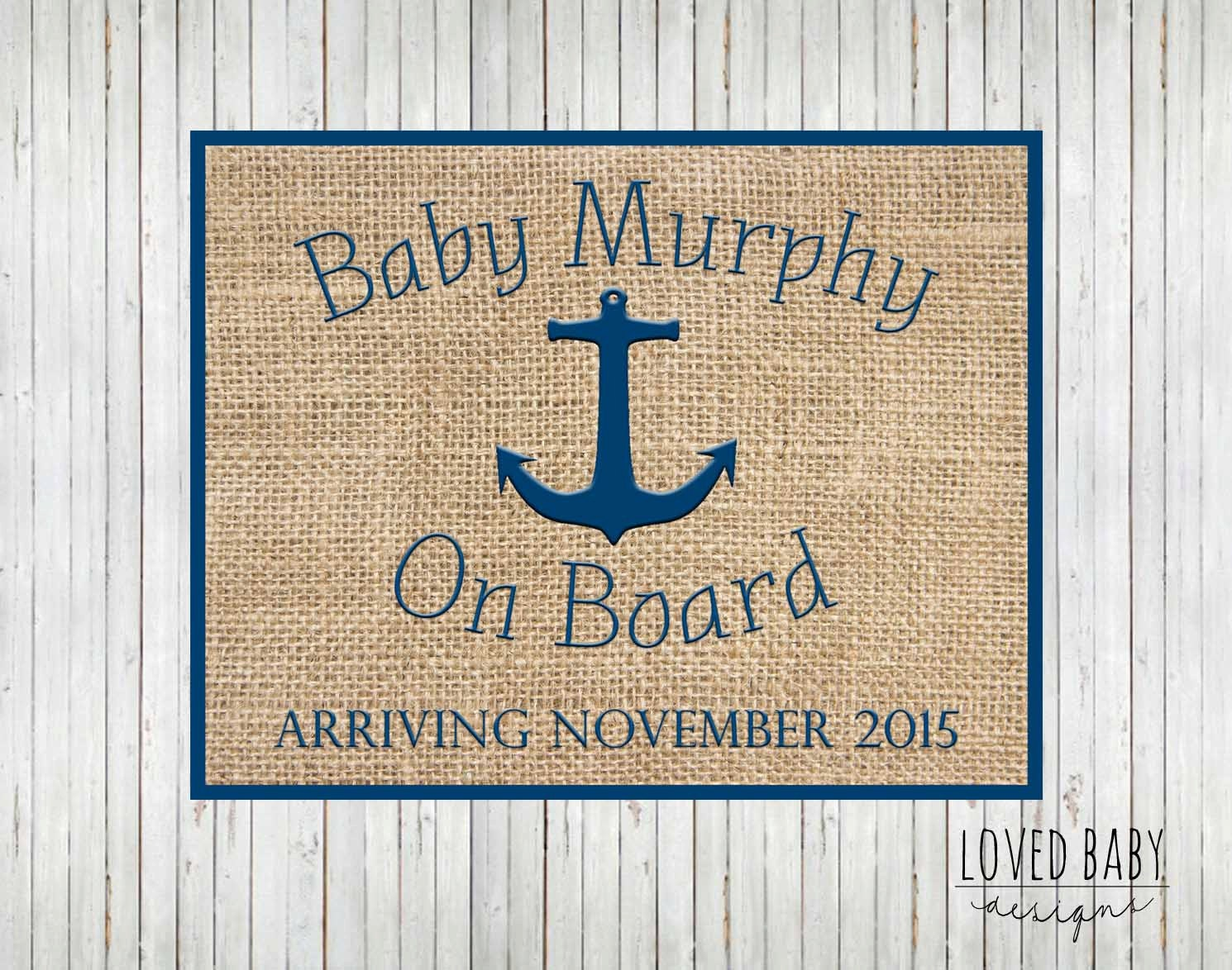 nautical baby announcement new baby announcement sign diy