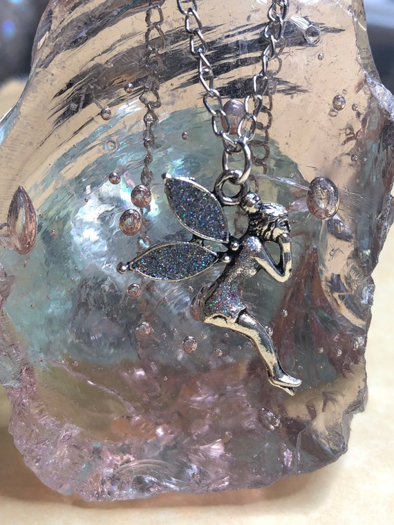 Glitter Fairy Pixie pendant
