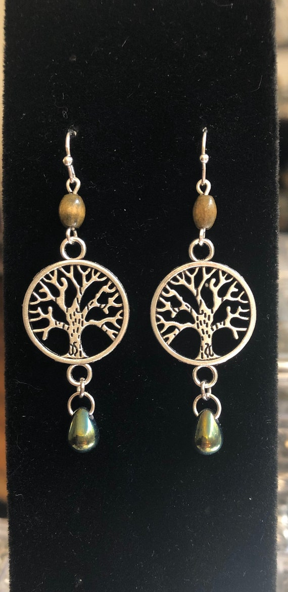 7.00 Earth Elements Tree of Life Peace Tree Earrings