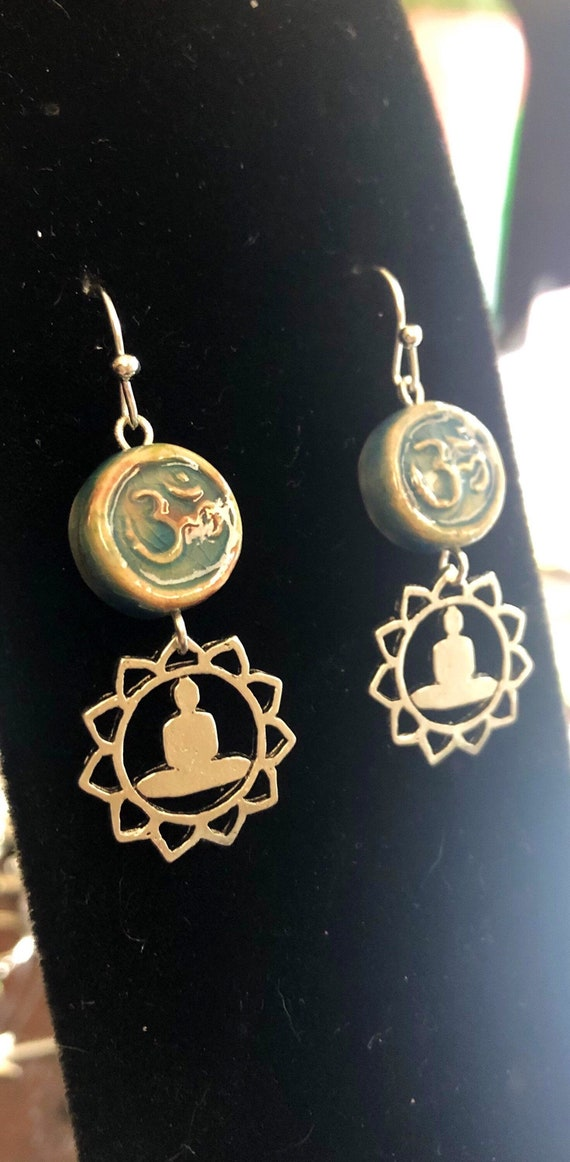 Ohm earrings Yoga Meditation Chakra
