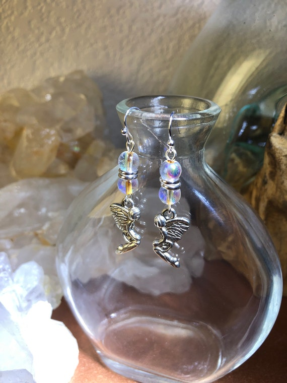 7.00 Fairy Sprites Earrings with Magical Colored beads