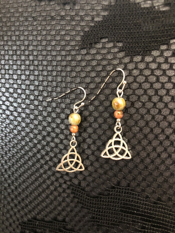 7.00 Trinity Earrings Ceramic beads
