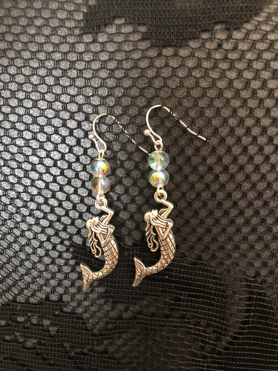 Water elements Ocean Mermaid Magical Rainbow Bubble Earrings